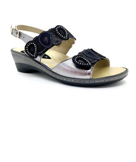 PODOLIFE SHOES Sandalo Donna Predisposto Nero Piombo podolifecalzature.it 2 Scarpe Donna