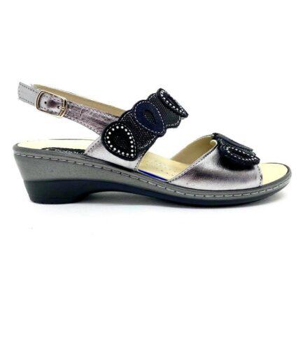 PODOLIFE SHOES Sandalo Donna Predisposto Nero Piombo podolifecalzature.it Scarpe Donna