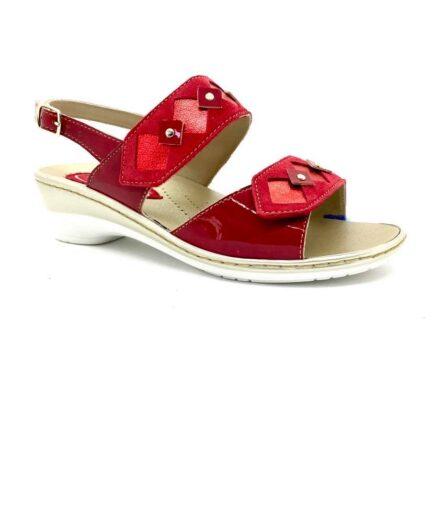 PODOLIFE SHOES Sandalo Donna Predisposto Rosso podolifecalzature.it 3 Scarpe Donna