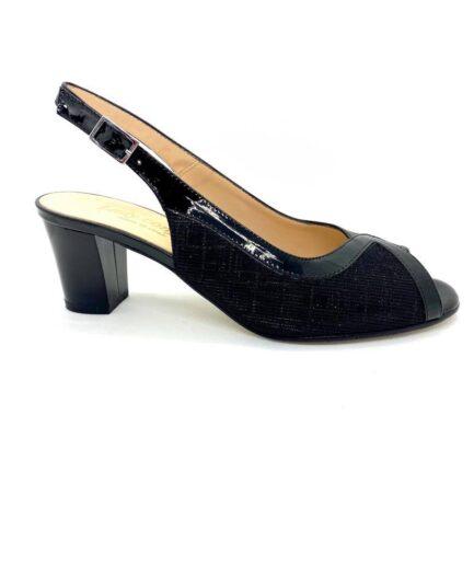 sandalo donna ladyconfort nero pelle lurex podolifecalzature.it 2 Scarpe Donna