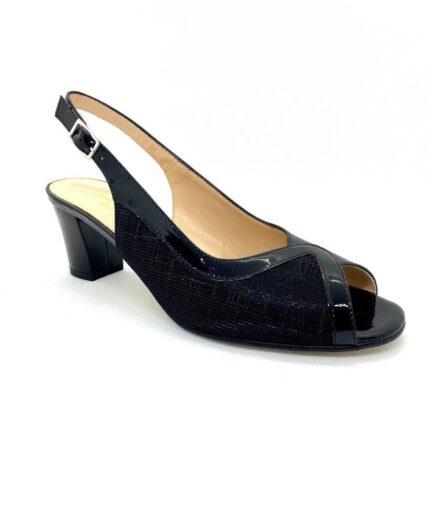 sandalo donna ladyconfort nero pelle lurex podolifecalzature.it 4 Scarpe Donna